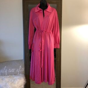 Vintage JCPenny Neon Pink Robe/Housecoat